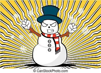 homme neige, background3, dessin animé, noël
