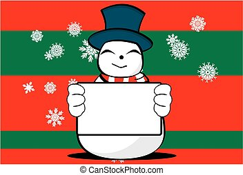 homme neige, dessin animé, background9, noël