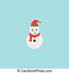 homme, neige, illustration