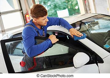 polissage voiture ouvrier service voiture travail machine polisseur station soin. Black Bedroom Furniture Sets. Home Design Ideas