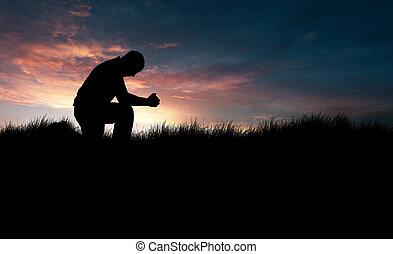 homme, prier