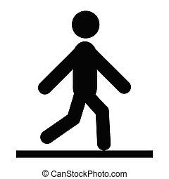 homme promenade, icône