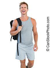 homme, séduisant, vêtements de sport