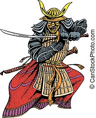 homme, samouraï