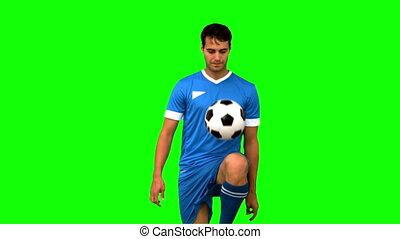homme, sien, kn, football, jonglerie