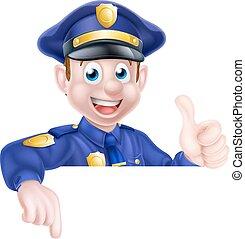 homme, signe police