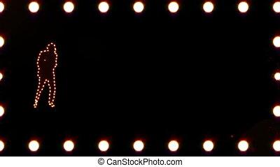 homme, silhouette, danse