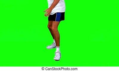 homme, tennis, pratiquer