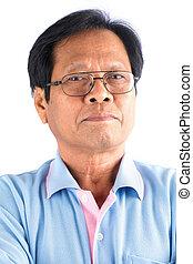 homme, vieux, asiatique