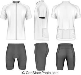 hommes, cyclisme, vêtements