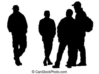 hommes, groupe