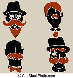 hommes, moustache