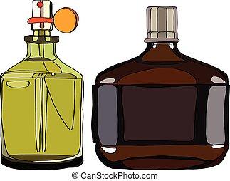 hommes, parfum, ensemble