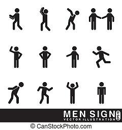 hommes, signe
