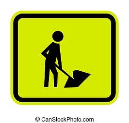 hommes, signe, symbole, illustration, isoler, vecteur, travail, fond, blanc