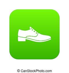 hommes, vert, chaussure, icône, numérique