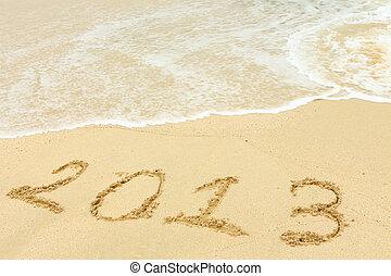 homok, 2013, írott, tengerpart