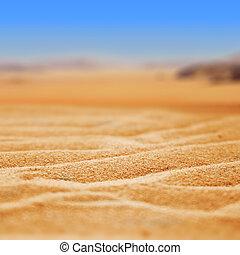 homok, dezertál