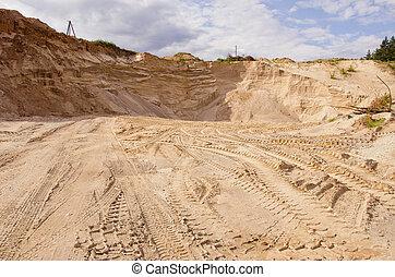 homok, különleges, construction.