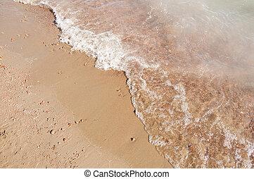 homok tengerpart, és, lenget