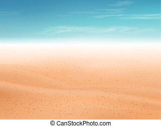 homok tengerpart, dezertál, háttér, vagy