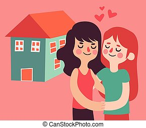 Homosexual Couple Buying a New House