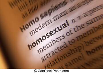 Homosexuality - a person who is sexually attracted to people of their own sex.