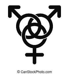 Homosexual family icon black simple icon isolated on white...