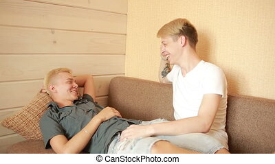 homosexuality, same-sex marriage concept - happy male gay...