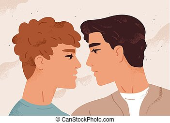 homosexuel, chaque, enamored, tendresse, romantique, date., ...