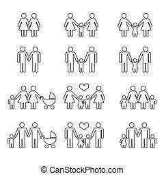 homossexual, família, crianças