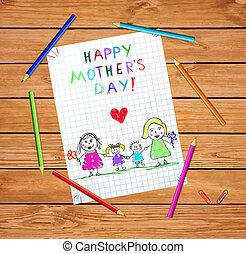 homossexual, família, crianças, lgbt, bebê, desenho