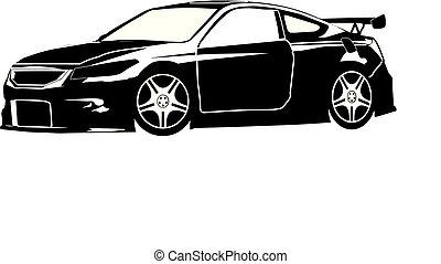 Honda Accord Coupe Custom Silhouette