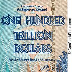 honderd dollars, trillion, een