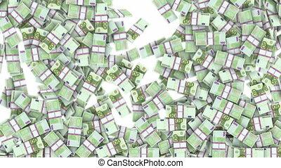 honderd, frame, vullen, eurobiljetten
