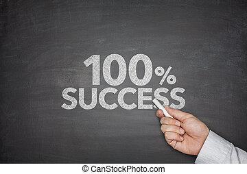 honderd, percentage, succes