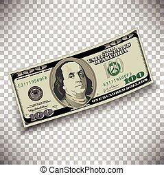 honderd, rekening, dollar