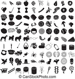 honderd, set, 3, pictogram
