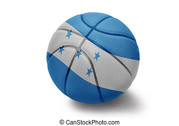 Honduran Basketball - Basketball ball with the national flag...
