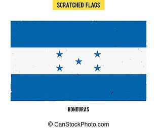 Honduran grunge flag with little scratches on surface. A hand drawn scratched flag of Honduras with a easy grunge texture. Vector modern flat design