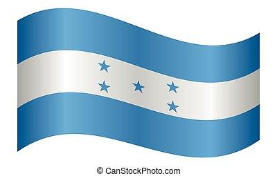 Flag of Honduras waving on white background - Honduran...