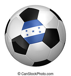 Honduran Soccer Ball isolated over white background