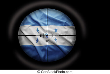 Honduran Target - Sniper scope aimed at the Honduran flag
