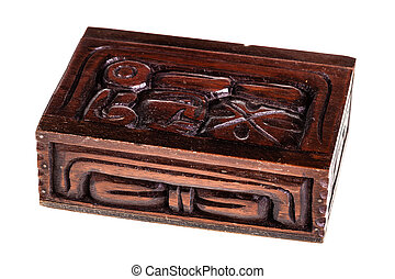 Honduran wooden box - a beautiful wooden casket or box...