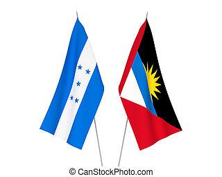 Honduras and Antigua and Barbuda flags - National fabric ...