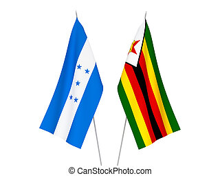 Honduras and Zimbabwe flags - National fabric flags of ...