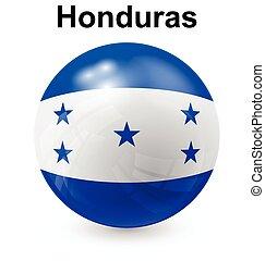 honduras ball flag - honduras official flag, button ball