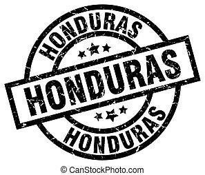 Honduras black round grunge stamp