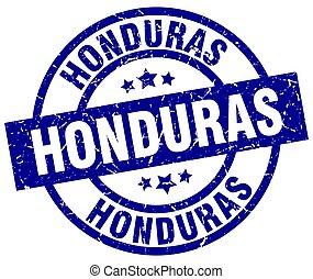 Honduras blue round grunge stamp