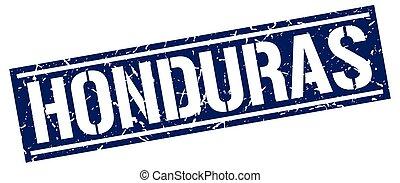 Honduras blue square stamp